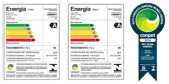 Manual aquecedor a gas lorenzetti lz 2200